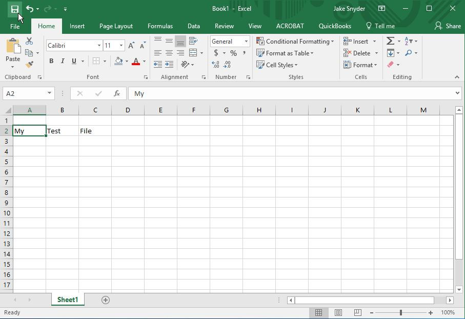 Excel Save
